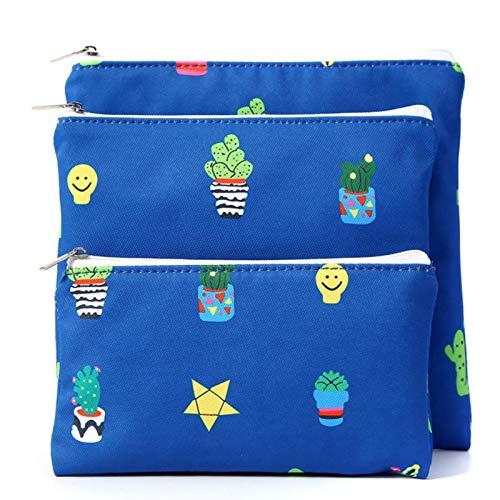Bolsa sándwich reutilizable, juego de 3 bolsas para bocadillos, bolsa para bocadillos para niños, bolsas impermeables para pan, bolsas para la escuela, camping, viajes de trabajo