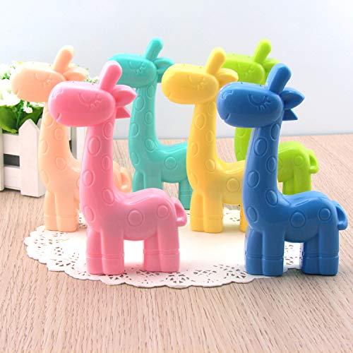 qilegn Creative Giraffe Form Kontaktlinsenbehälter Gläser Care Kit Box, (zufällige Farbe)