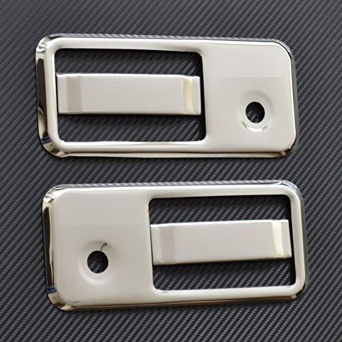 2 x 3d Chrome Super Miroir en acier inoxydable Poignée de porte couvertures pour VolvoFH FM FL