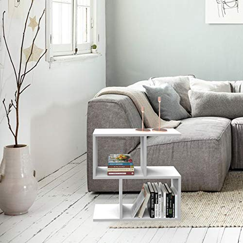 Homemania stolik kawowy, płyta wiórowa, biały, 60 x 20 x 60 cm