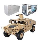 Véhicules militaires, militaire jouet voiture blindée US 4x4 2.4G 4WD RC jouet voiture 30Km/h haute vitesse militaire combattant voiture jouet télécommande enfants garçons véhicule militaire(Jaune)