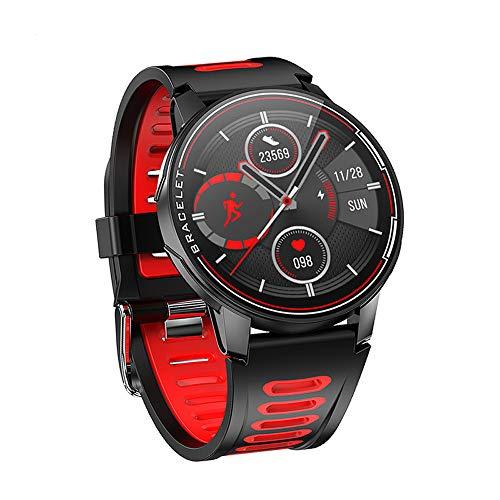 ANZQHUWAI Reloj Elegante Impermeable IP68 Bluetooth 5.0 rastreador de Ejercicios Reloj Inteligente Hombres Mujeres Hombres Mujeres Regalos,A