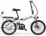 Bicicleta electrica, Bicicletas eléctricas plegables para adultos, 3 modos de trabajo, velocidad máxima de 25km / h, 48V batería de iones de litio, carga máxima de 150 kg, bicicleta E-Friendly E-Bike