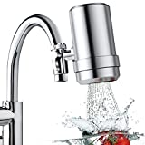 Latest Faucet Water Filter for Kitchen Sink, Premium 304 Stainless Steel Home Tap Mount Water...
