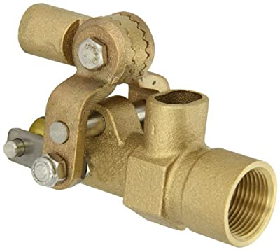 """Robert Manufacturing RF605T High Turbo Series Bob Red Brass Float Valve, 3/4"""" NPT Female Inlet x FreeFlow Outlet, 27 gpm at 85 psi Pressure from Control Devices"""
