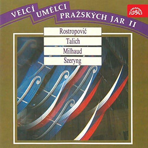 Mstislav Rostropovich, Henryk Szeryng, František Maxián, Václav Talich, Darius Milhaud, Czech Philharmonic