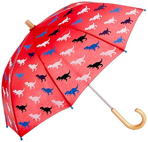 Hatley Jungen Printed Umbrellas Regenschirm, Rot (Trex Silhouettes 600), One size