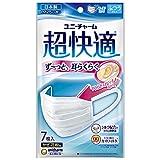 (日本製 PM2.5対応)超快適マスク プリ-ツタイプ シルク配合 ふつう 7枚入(unicharm)