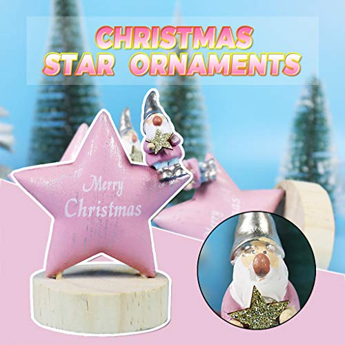 AMhomely Christmas Decorations Sale Christmas ornaments wooden old man doll star desktop ornaments Merry Christmas Decorative Xmas Decor Ornaments Party Decor Gifts for Kids