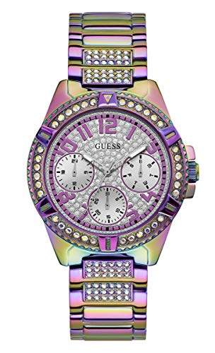 GUESS Damen analog Uhr mit Edelstahl Armband GW0044L1