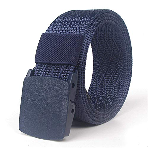 DSY Cinturón para Hombre, Hombre Nylon Cinturón de Secado Rápido Viajes de Escalada Al Aire Libre Hebilla Suave Jeans Ajustables Cinturones para Masculino Longitud de Cintura 120 cm