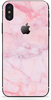 DowBier iPhone Bottom Decal Vinyl Skin Sticker Cover Anti-Scratch Decal for Apple iPhone (Pink Marble, iPhone 7)