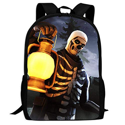 XCNGG Erwachsenen-Vollformat-Druckrucksack Lässiger Rucksack Rucksack Schultasche for_Tnigh-t Skull Backpack Lightweight School Shoulder Laptop Bag Handle Bookbag Student Daybag