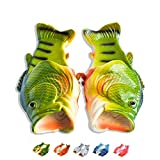 Coddies Fish Flops | The Original Fish Slippers | Funny Gift, Unisex Sandals, Flip Flops, Bass Slides, Pool, Beach & Shower Shoes | Men, Women & Kids (7/8 UK (40/41 EU) Green)