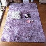 JINGMIAO Bubble Kiss - Alfombra suave de seda para salón, dormitorio, habitación de los niños, alfombra para el hogar, color degradado de pelo sintético