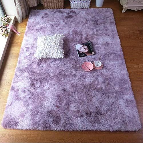 JINGMIAO Bubble Kiss - Alfombra suave de seda para salón, dormitorio, habitación...
