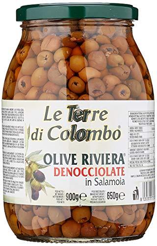 Le Terre di Colombo – Entsteinte Riviera-Oliven in Salzlake, 900 g