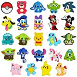 24 PCS Anime Characters Shoe Charms for Croc Wristband, Cartoon Shoe Charms for Clog Sandals Decoration for Kids Boys Girls Teens Party Favors Birthday Gifts