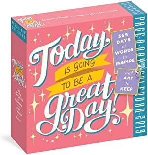 2019 Today is Going to be A Great Daily! Page-A-day Box/Desk Calendar