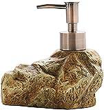 WKLIANGYUANPING Dispensador Gel Hidroalcoholico, Dispensador de jabón de cerámica Creativa de Piedra de época Champú desinfectante de Manos Gel de Ducha Sub Paquete dispensador de jabón (Color : A)
