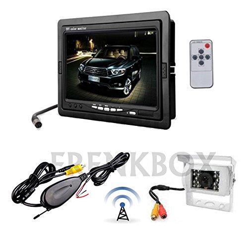 Kit retromarcia wireless Telecamera per camper, auto, rimorchi Monitor LCD 7'