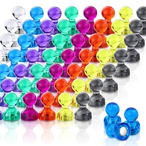 DIYMAG Push Pin Magnets, 120 Pack 8 Farben Kühlschrank Magnete, Farbige und praktische Kühlschrank Magnete, Perfekt für Whiteboard Magnete, Office Magnets, Map Magnets