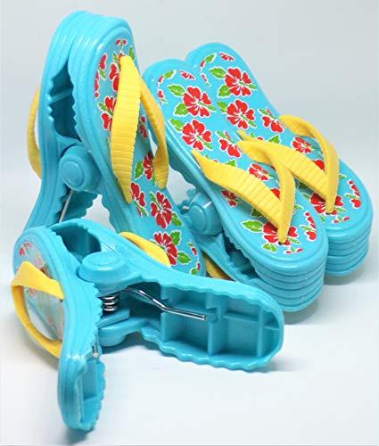 Strandtuch Clips Boca Stil - Zwei Paar Flip Flops