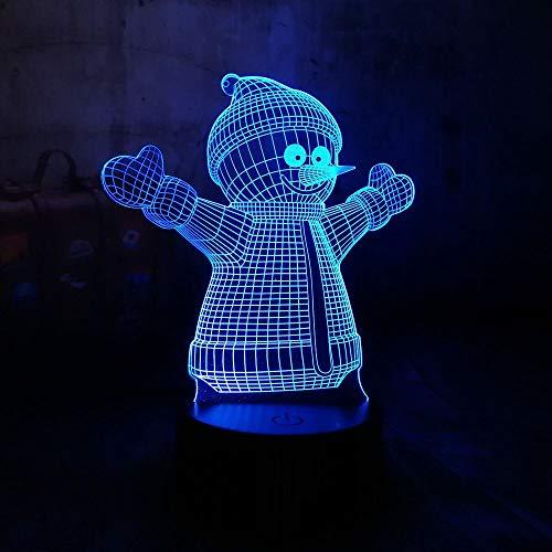Luz de bricolaje luminosa de 7 colores año nuevo luz LED 3D árbol de anciano luz de noche adornos USB regalo de Halloween luz de noche colorida