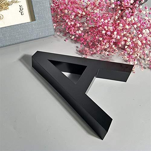 W-L Números Casa Exterior Negro Metal 3D Moderno de la casa el indicativo de 0-9 Placas ABC Impermeable al Aire Libre Home Hotel Puerta de Acero Inoxidable Lettre addresss