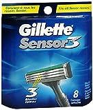 Gillette Sensor 3 pack de 8 lames