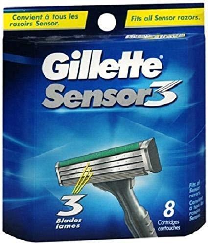 Auslaufmodell Gillette Sensor3 Rasierklingen, 8 Stück