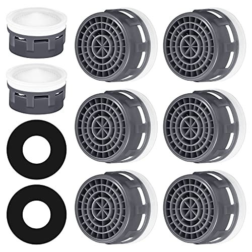20 Sets Faucet Aerator with Gasket 2.2 GPM Sink Aerator Faucet Replacement Parts for Bathroom or Kitchen (White)
