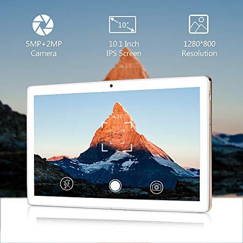 LNMBBS N10 Tablet 10 Zoll (25.54cm), Android 10.0, Octa-core Tablet PC, 4GB RAM, 64GB ROM, 1200x800 FHD, 4G LTE Dual SIM, WLAN, GPS (Gold)