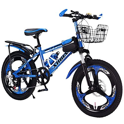 Axdwfd Infantiles Bicicletas Bicicleta Al Aire Libre De 20 Pulgadas, Adecuada para Niños Y Niñas De 9 A 14 Años, Bicicleta De Montaña Ajustable, Bicicleta De Absorción De Golpes(Color:C)