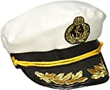 Forum Novelties Gorro de Capitán de Yate mar patrón blanco azul marino Sailor gorro para adultos disfraz para hombre accesorios