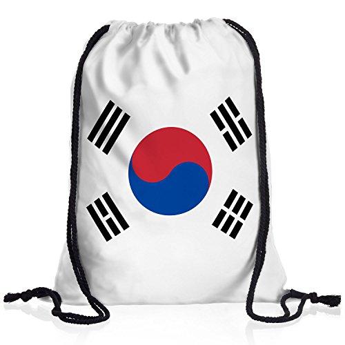 style3 Süd-Korea Turnbeutel Rucksack Tasche hangug Flagge WM EM Sport Beutel Festival Fahne Uni Schule Bunt