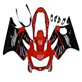 1999 2000 CBR 600 Injection Fairings Fit for Honda Glossy Black Red ABS Plastic Kit a12
