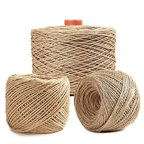showyow Jute Rope, 50m Natural Solid Hemp Rope Multifunctional High Strength Braid Jute Twine, for Tie/Pull/Swing/Climb and Knot,50m_14mm