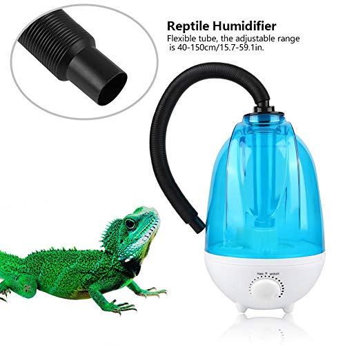 Jacksking Reptile Fogger, 4L Tropical Amphibians Reptile Humidifier Silent Fogger mit Verlängerungsrohr für Reptiles Amphibians(EU-Stecker)