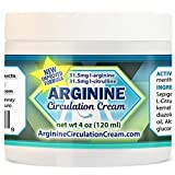 Arginine Circulation Cream - Menthol, L Arginine & L Citrulline Blood Circulation Supplement - Lotion Supports Improved Blood Flow to Cold Hands and Cold Feet and Neuropathy Pain Relief (4 Ounces)