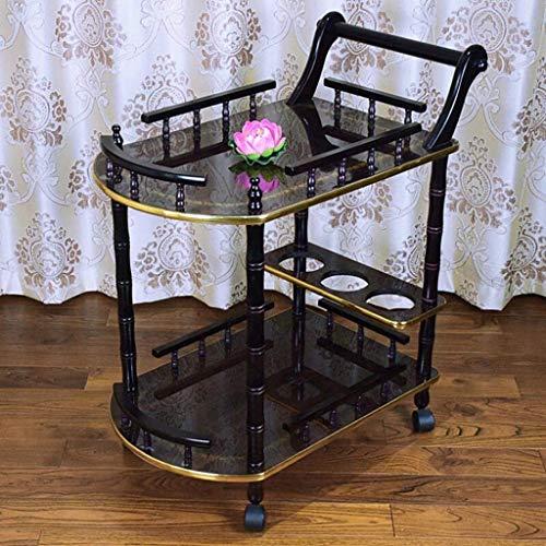 Einfache Idee Trolley Beauty Salon Trolley Werkzeugwagen Tisch Mobile Ablage Rack Rack Praktisch, T-C, Schwarz, 60 * 40 * 76 cm