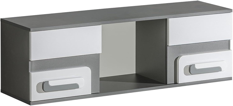el mas de moda SMARTBett Abetito - Estante Colgante (120 (120 (120 cm), Color gris y blancoo  grandes ahorros