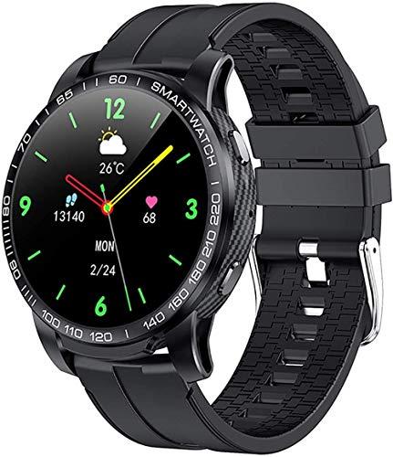 Reloj Inteligente Bluetooth Llamada Impermeable Deportes Fitness Watch Health Tracker Tiempo Play Music Reloj Inteligente Mujeres-Negro