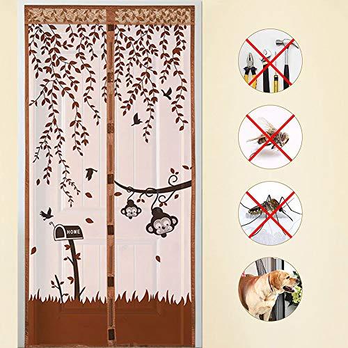 ADFD 3 kleuren deurscherm handsfree magnetische muggennet zachte garen deur gordijn anti-insect vliegen mesh