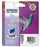 Epson C13T08054011 - Cartucho de tinta, 1 unidad, color cian claro válido para los modelos Stylus Photo RX685, PX810FW, PX710W, PX700W, PX650, P50 y otros, Ya disponible en Amazon Dash Replenishment
