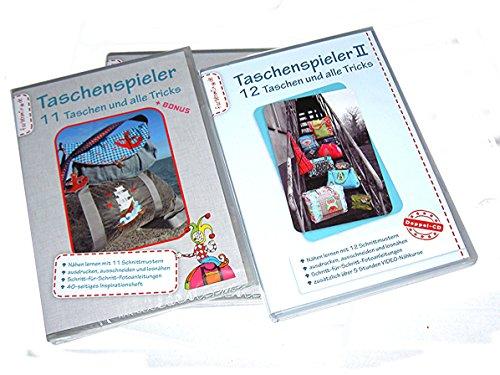 Farbenmix Taschenspieler CD I, II + III im Set - 2x 11 Schnittmuster + Bonus - Fotoanleitung + 1x 12 Schnittmuster mit Videoanleitung NEU (CD 1+2+3, 2013/2014/2016)