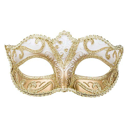 Boland 00338 - Augenmaske Venice Felina, gold, Gummizug, edel, Ornamente, Maskenball, Venedig, Karneval, Halloween, Fasching, Mottoparty, Verkleidung, Theater, Accessoire