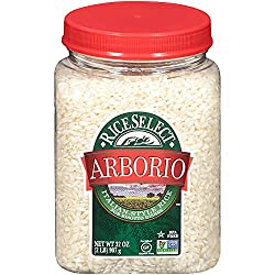"RiceSelect Arborio Rice, 32 oz Jars (Pack of 4).<a href=""https://www.amazon.com/gp/product/B000EH4XZC/ref=as_li_qf_asin_il_tl?ie=UTF8&amp;tag=ris15-20&amp;creative=9325&amp;linkCode=as2&amp;creativeASIN=B000EH4XZC&amp;linkId=36958c86e45d542673791d6262ca0d00"" target=""_blank"" rel=""nofollow noopener noreferrer""><span style=""text-decoration: underline; color: #0000ff;""><strong> Buy it on Amazon.</strong></span></a>"