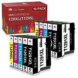Toner Kingdom Cartuchos de Tinta Compatibles de Reemplazo para Epson 129XL T1291 T1292 T1293 T1294 T1295 para Epson Stylus SX235W SX425W SX435W SX445W Workforce WF3520 Stylus Office BX305FW (10pk)