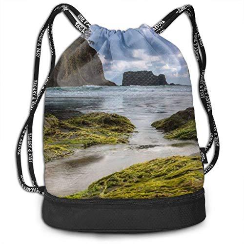 Mochilas con cordón para playa, océano, deportes, gimnasio, bolsa de viaje, mochila